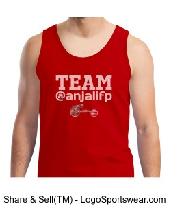 MENS TEAM @ANJALIFP TANK WITH LOGO RED w/ WHITE Design Zoom