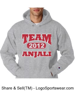 UNISEX CHAMPION HEAVY HOODED TEAM ANJALI SWEATSHIRT Design Zoom