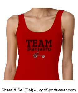 WOMENS TEAM @ANJALIFP TANK WITH LOGO RED w/ BLACK Design Zoom