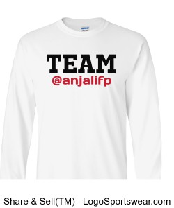 ADULT Long Sleeve Team Anjali Dream Drive Do Design Zoom