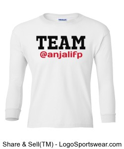 YOUTH Long Sleeve Team Anjali Dream Drive Do Shirt Design Zoom