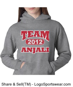 YOUTH TEAM ANJALI CHAMPION HEAVY HOODED SWEATSHIRT Design Zoom