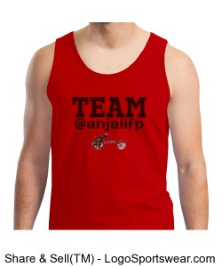 MENS TEAM @ANJALIFP TANK WITH LOGO RED w/ BLACK Design Zoom